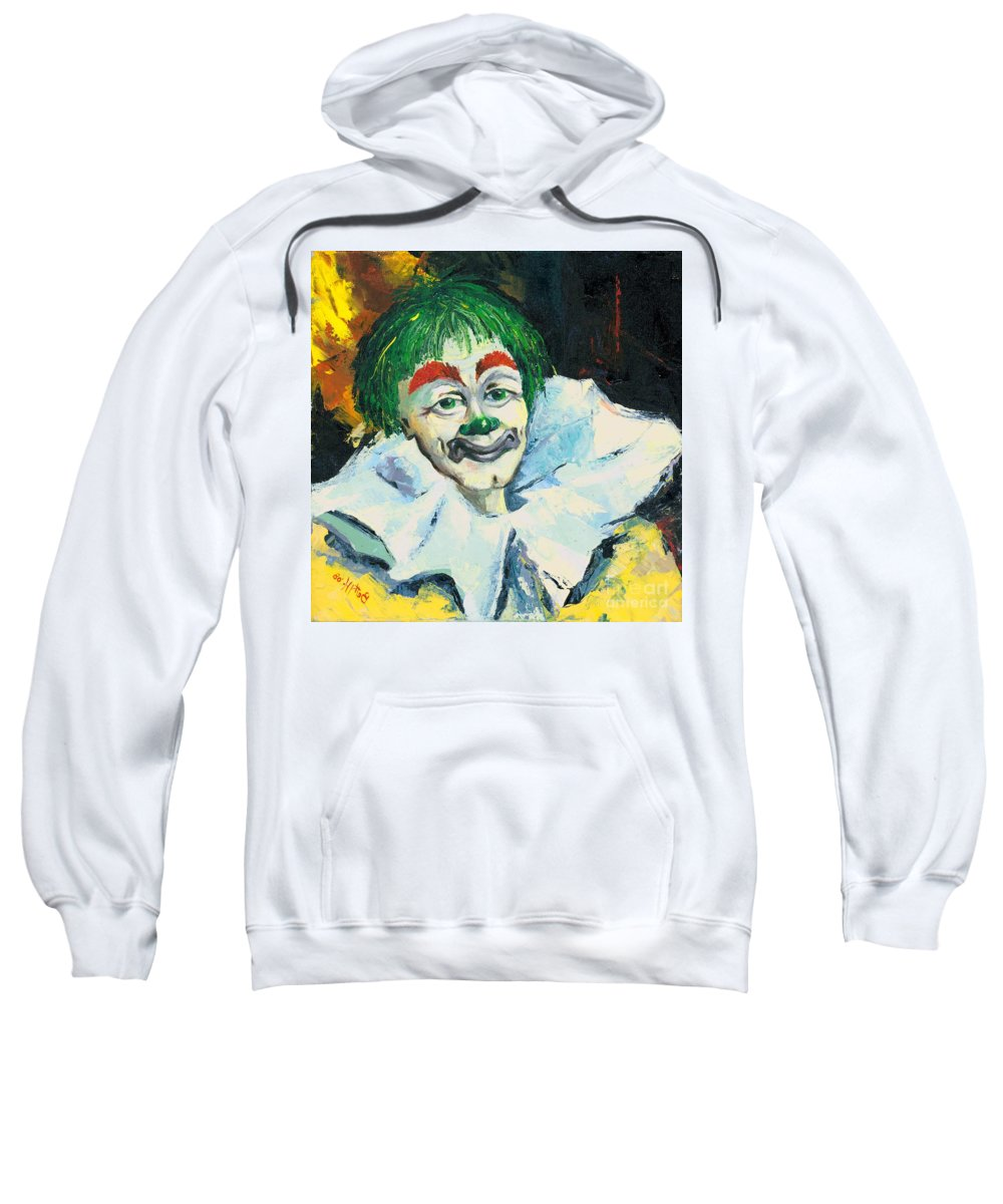 Canvas Prints Sweatshirt featuring the painting My Friend by Elisabeta Hermann