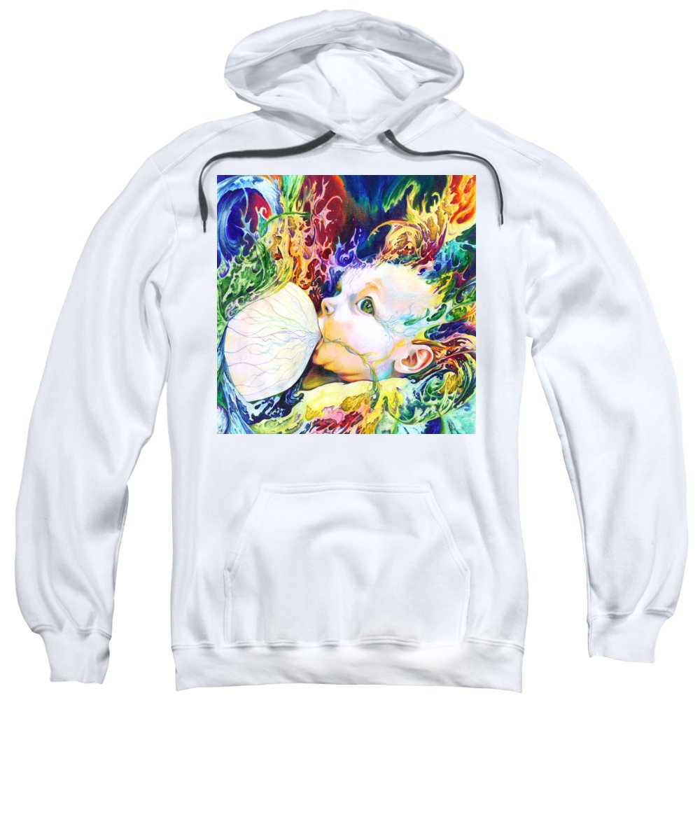 Dreams Sweatshirt featuring the mixed media My Soul by Kd Neeley