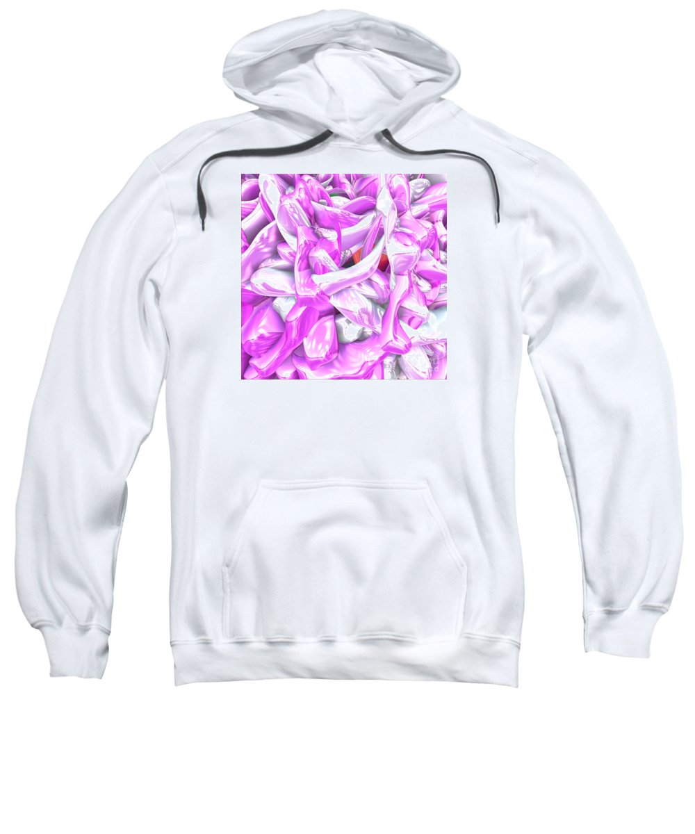 Peter R Nicholls Abstract Fine Artist Canada Sweatshirt featuring the digital art Naked Nudes by Peter R Nicholls