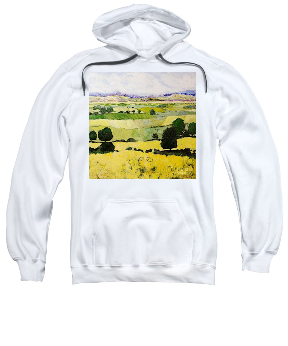 Landscape Sweatshirt featuring the painting Napa Yellow2 by Allan P Friedlander