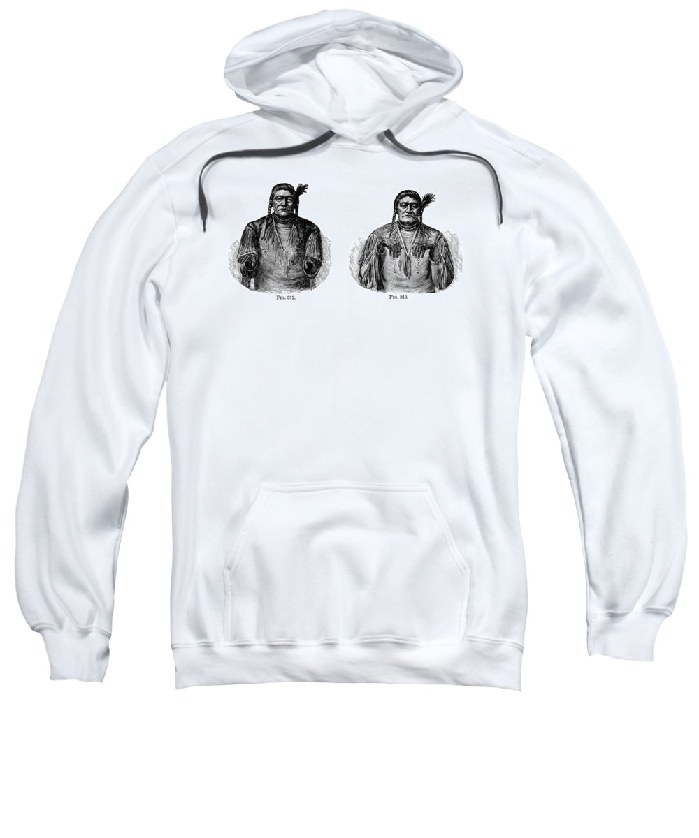 1880 Sweatshirt featuring the photograph Native Americans: Sign Language by Granger