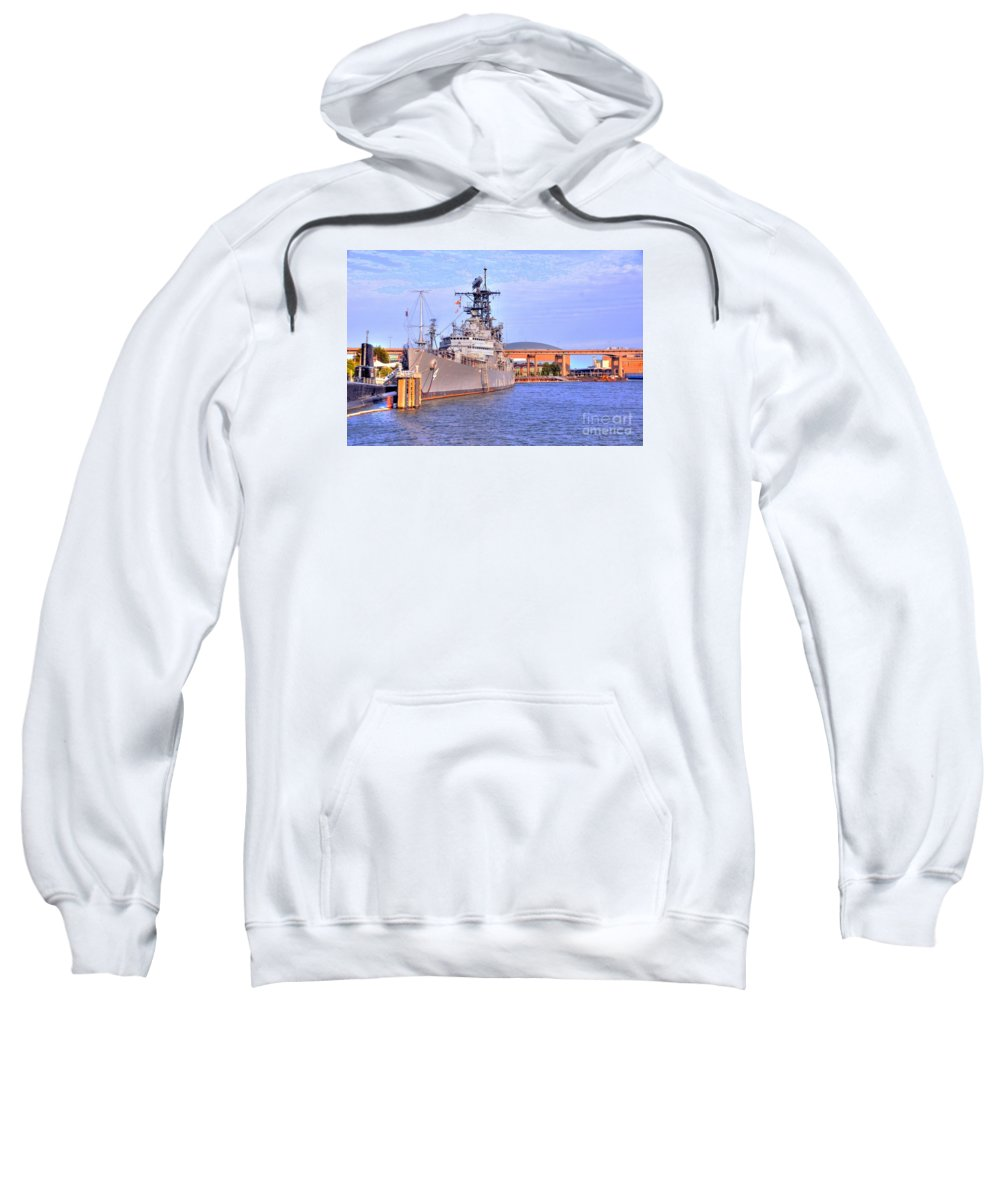 Naval Sweatshirt featuring the photograph Naval Park by Kathleen Struckle