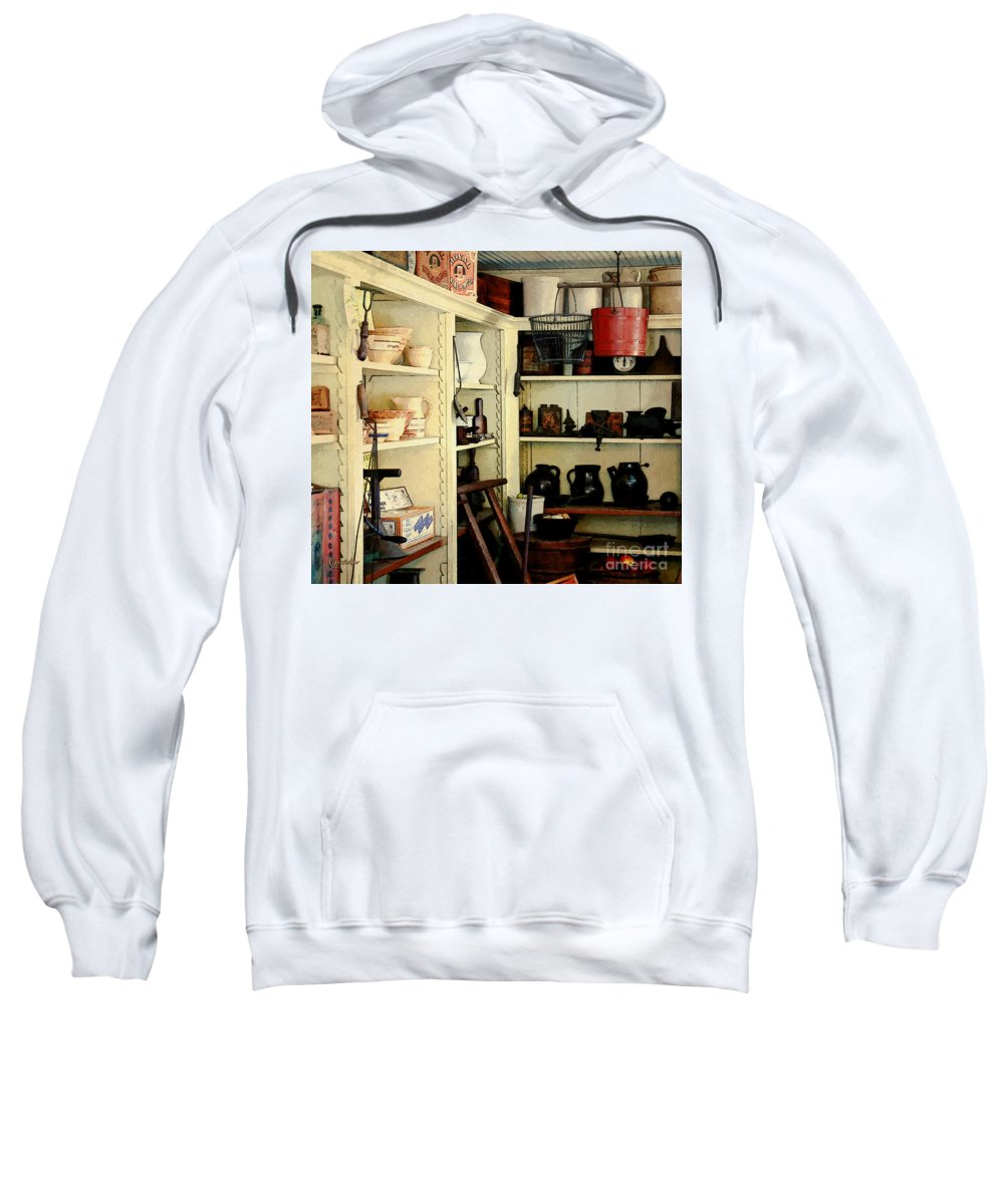 Antiques Sweatshirt featuring the painting Needful Things by RC deWinter