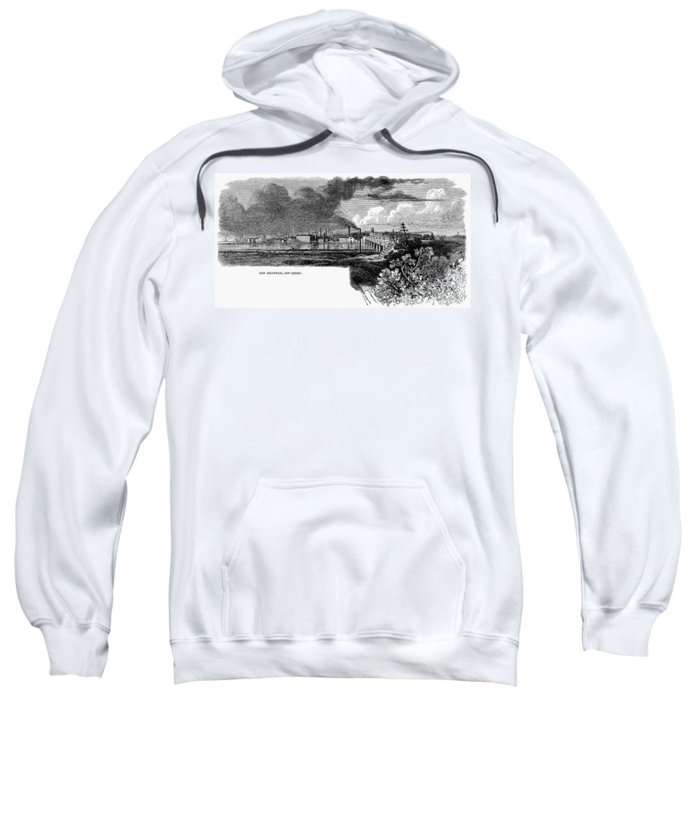 1876 Sweatshirt featuring the painting New Brunswick, 1876 by Granger