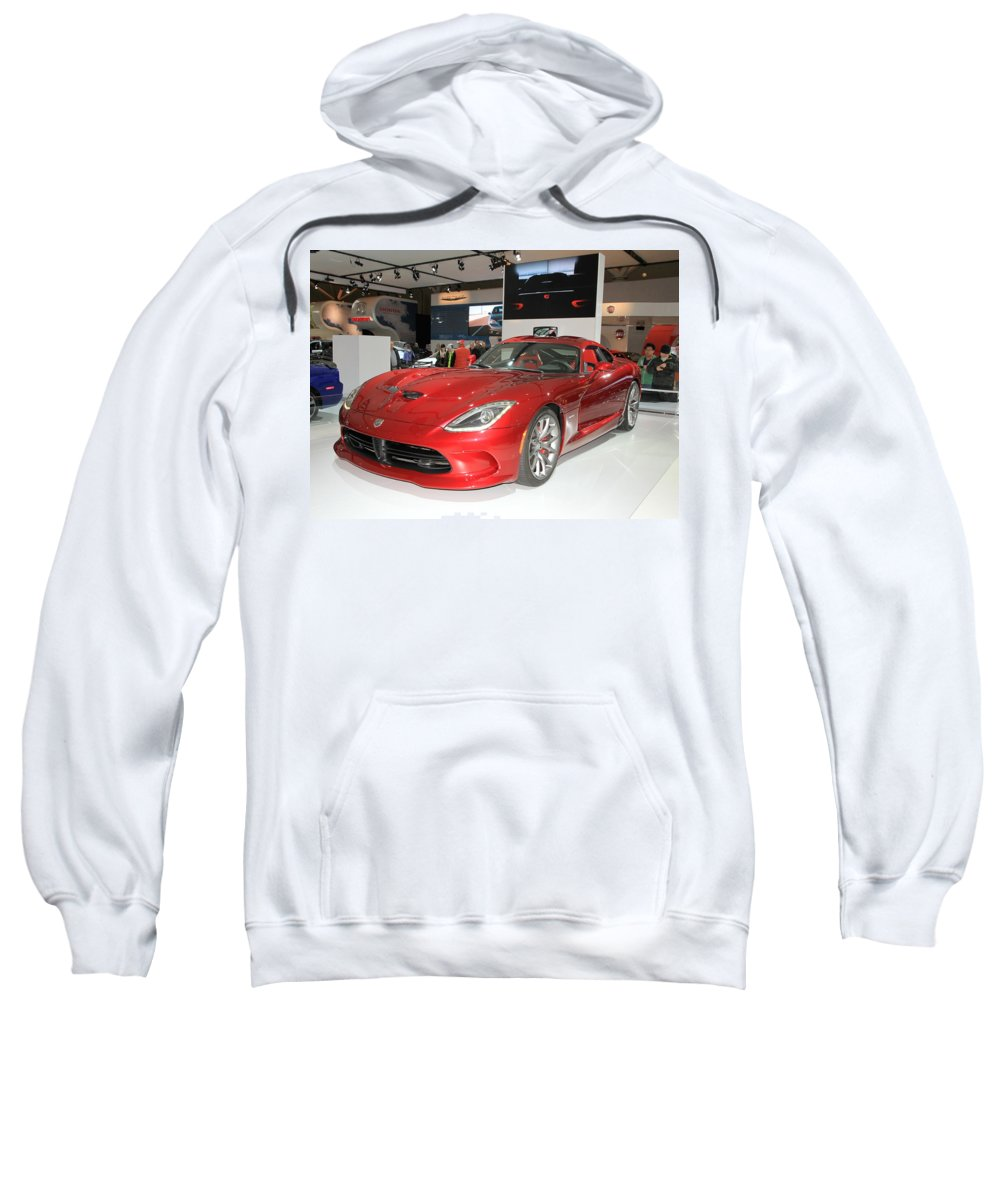 Automotive Sweatshirt featuring the photograph New Dodge Viper by Valentino Visentini