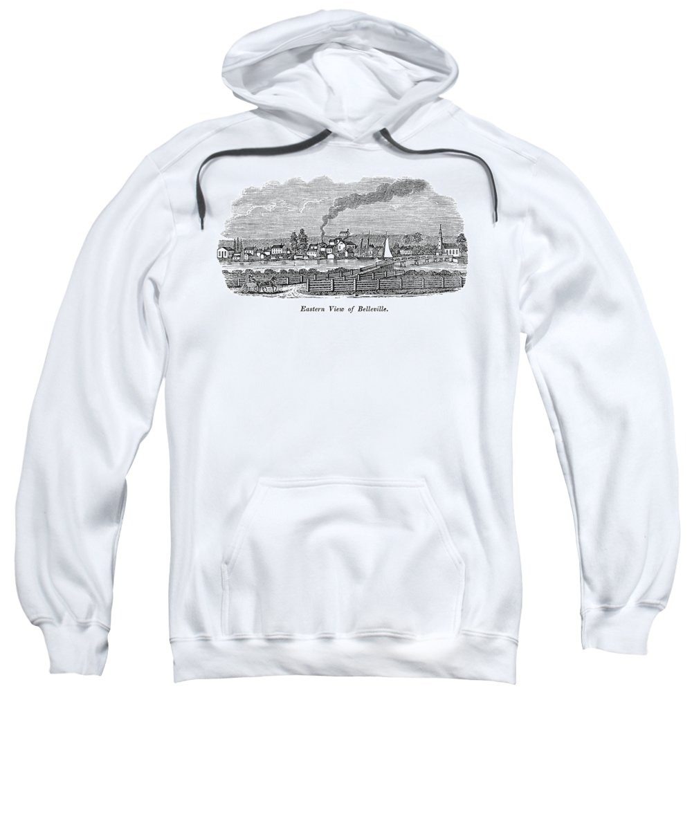 1844 Sweatshirt featuring the painting New Jersey Belleville by Granger