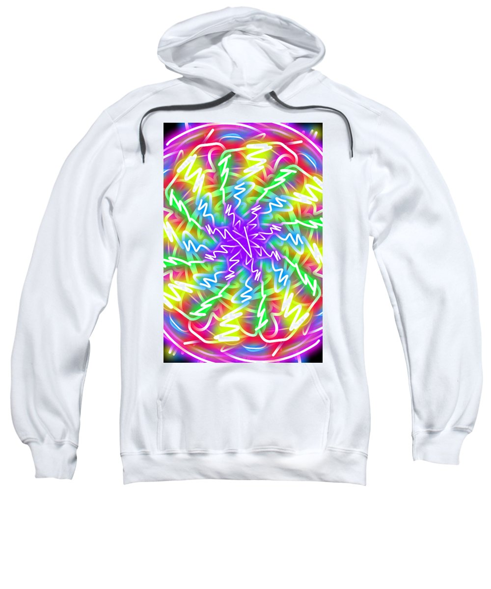 Kaleidoscope Sweatshirt featuring the digital art New Toy 2 by Bruce Nutting