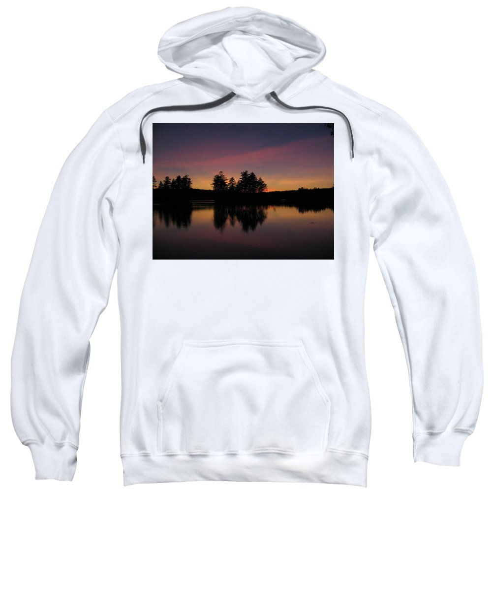 Sunset Sweatshirt featuring the photograph Summer Sunset In Nh by Mary Vinagro