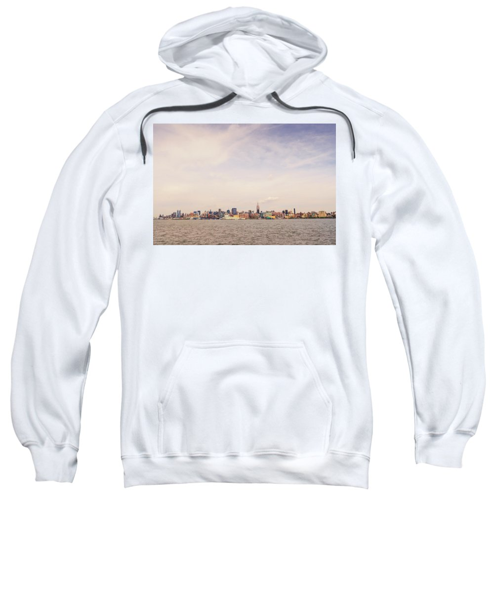 Nyc Sweatshirt featuring the photograph New York City Skyline And The Hudson River by Vivienne Gucwa