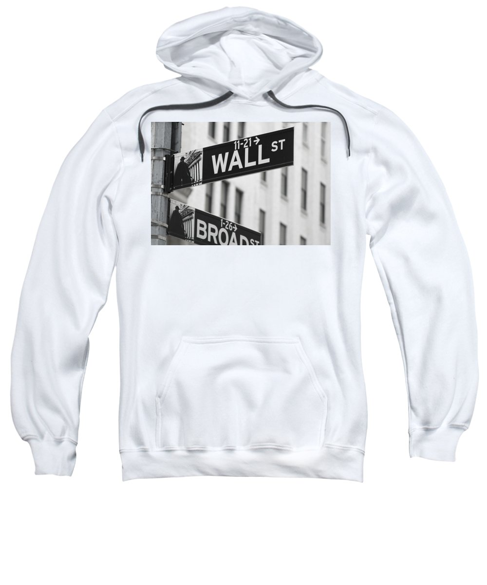 New York Signs Sweatshirt featuring the photograph New York Signs by Jacqui Hall