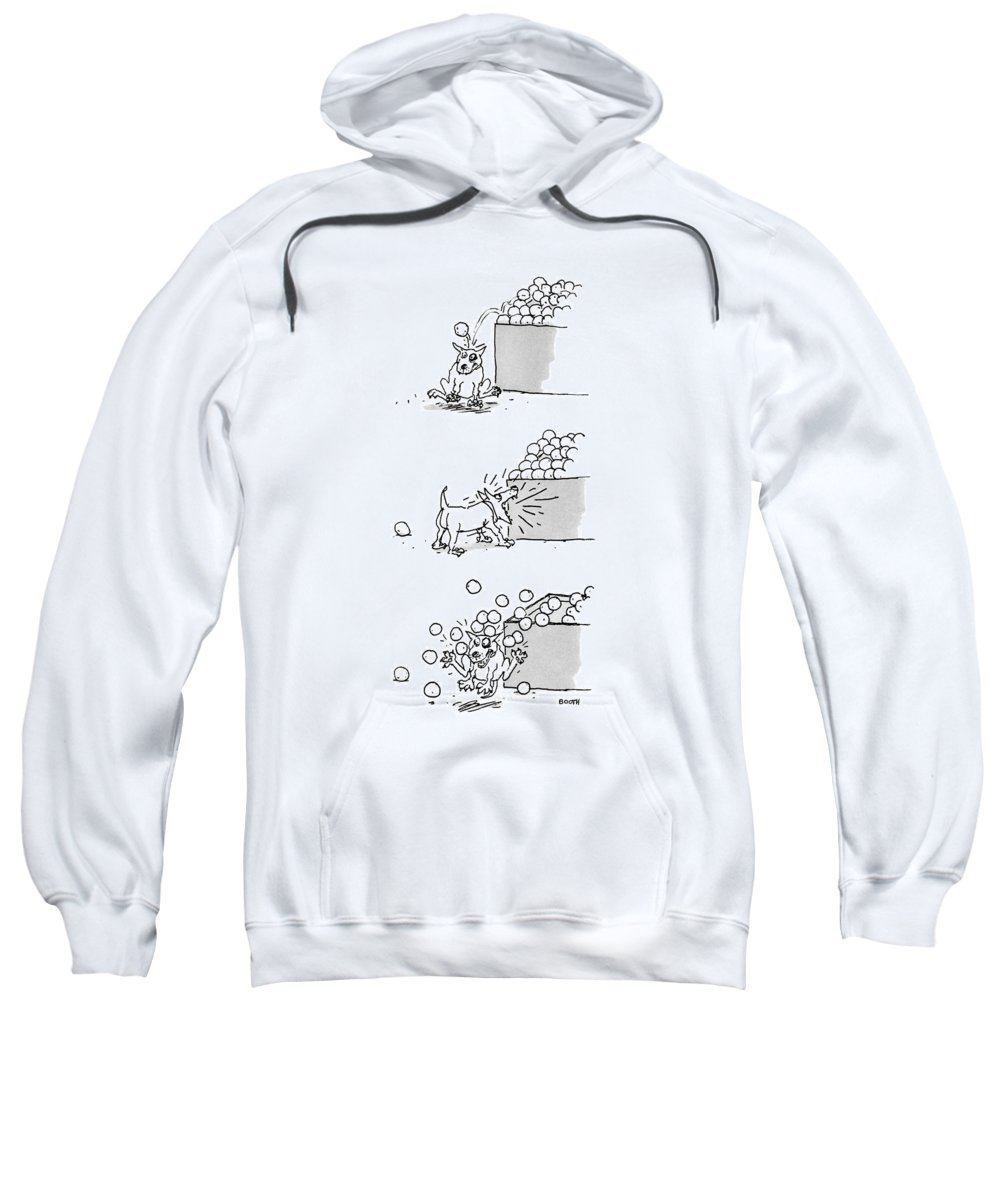 Captionless Sweatshirt featuring the drawing New Yorker April 4th, 1988 by George Booth