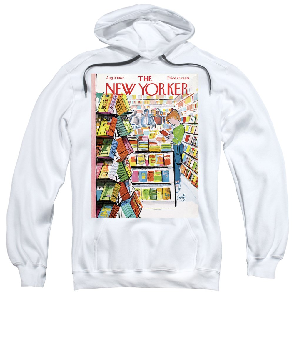Store Sweatshirt featuring the painting New Yorker August 11th, 1962 by Arthur Getz