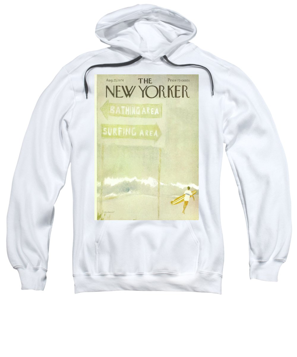 Vacations Sweatshirt featuring the painting New Yorker August 23rd, 1976 by James Stevenson