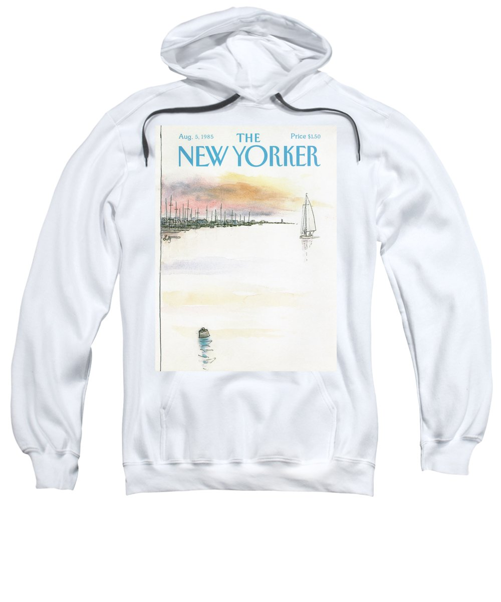 Nature Sweatshirt featuring the painting New Yorker August 5th, 1985 by Arthur Getz