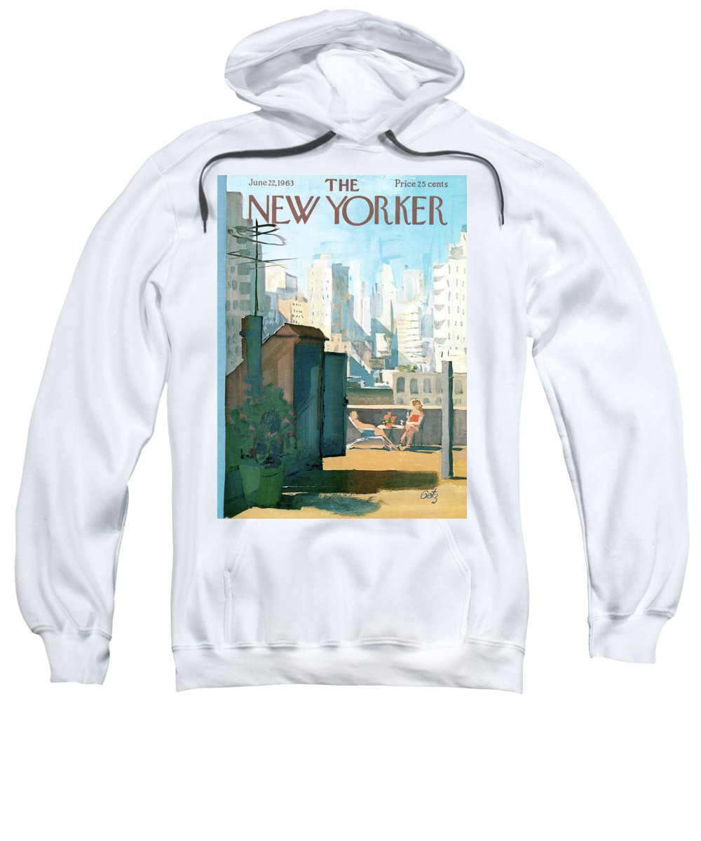 Sweatshirt featuring the painting New Yorker June 22nd, 1963 by Arthur Getz