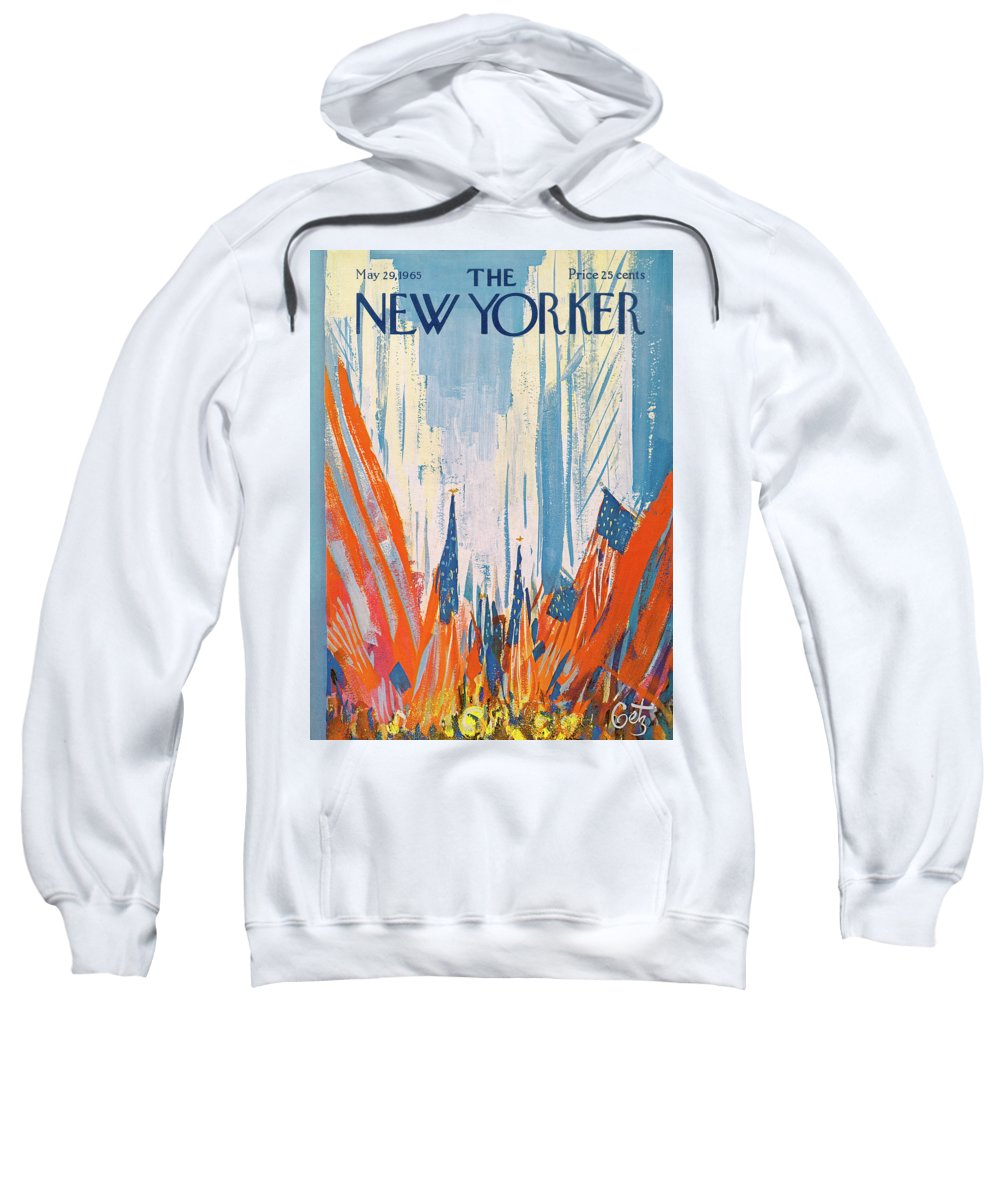 Urban Sweatshirt featuring the painting New Yorker May 29th, 1965 by Arthur Getz