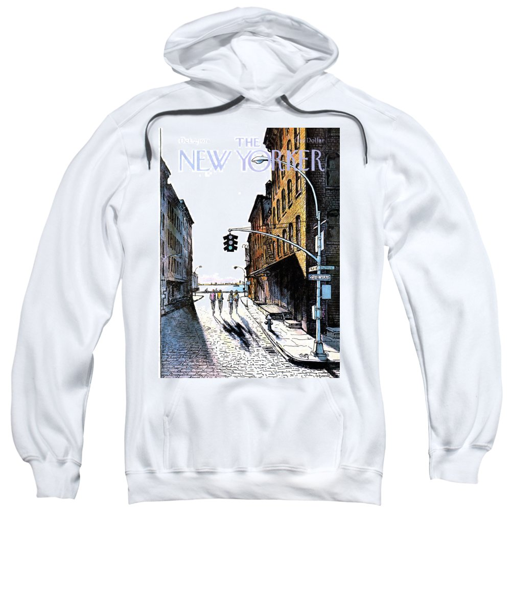 People Sweatshirt featuring the painting New Yorker October 2nd, 1978 by Arthur Getz