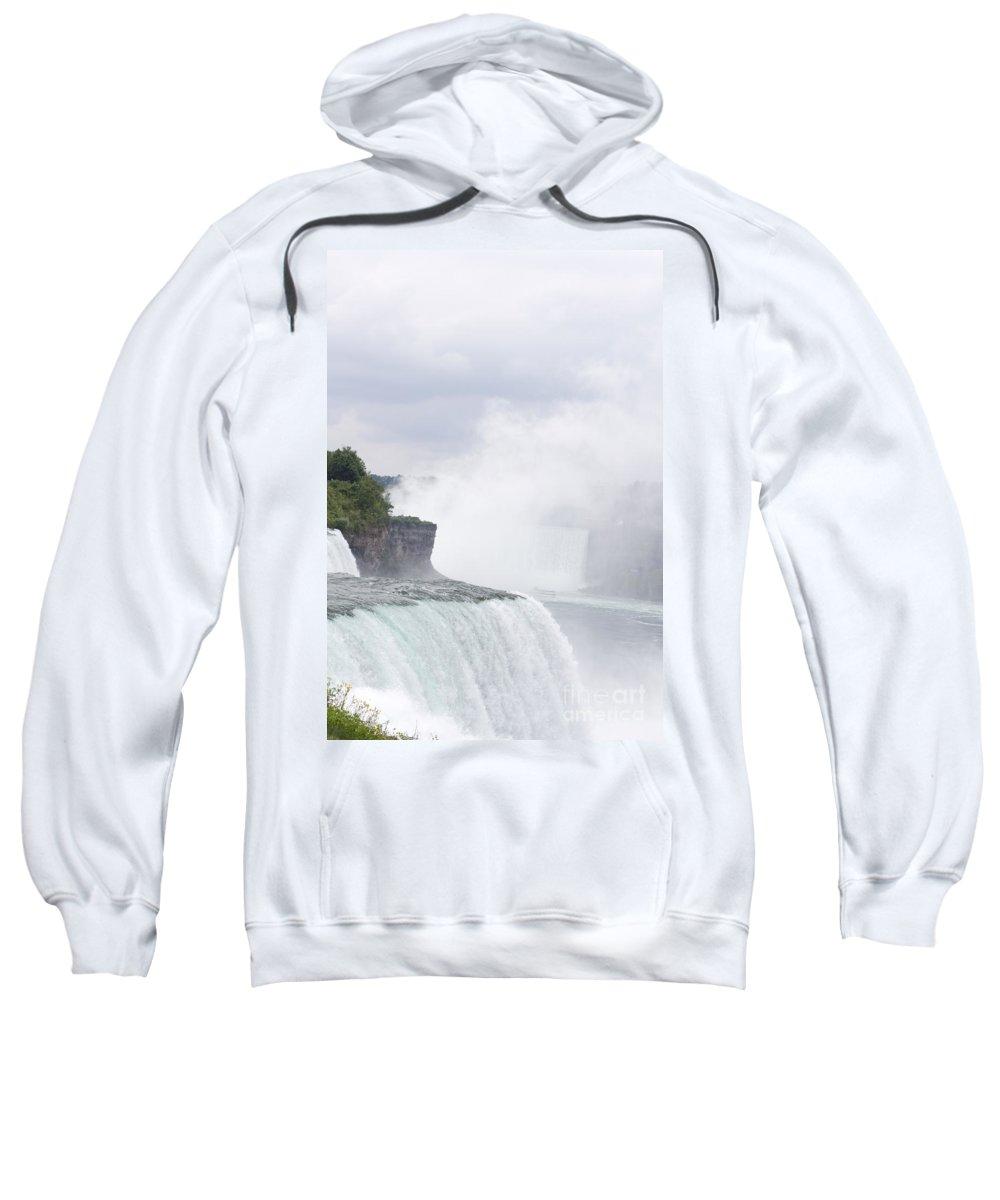 Sweatshirt featuring the photograph Niagara Falls One by Sara Schroeder