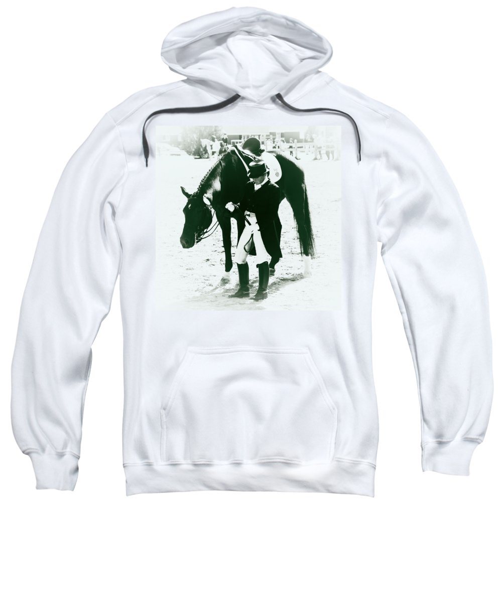 Dressage Rider Sweatshirt featuring the photograph Nice Ride by Alice Gipson
