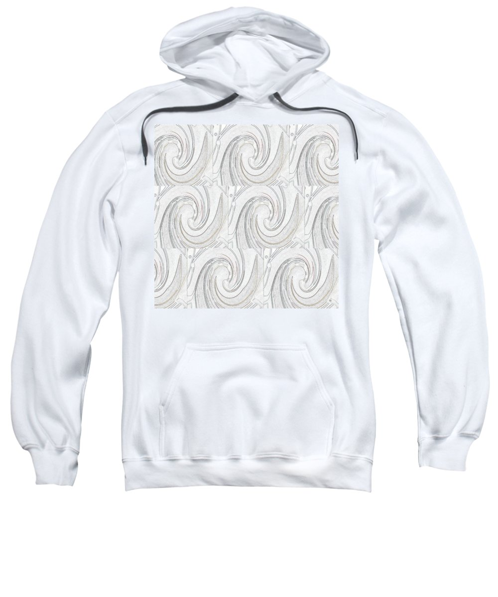 Abstract Sweatshirt featuring the digital art Nine Times by Helena Tiainen