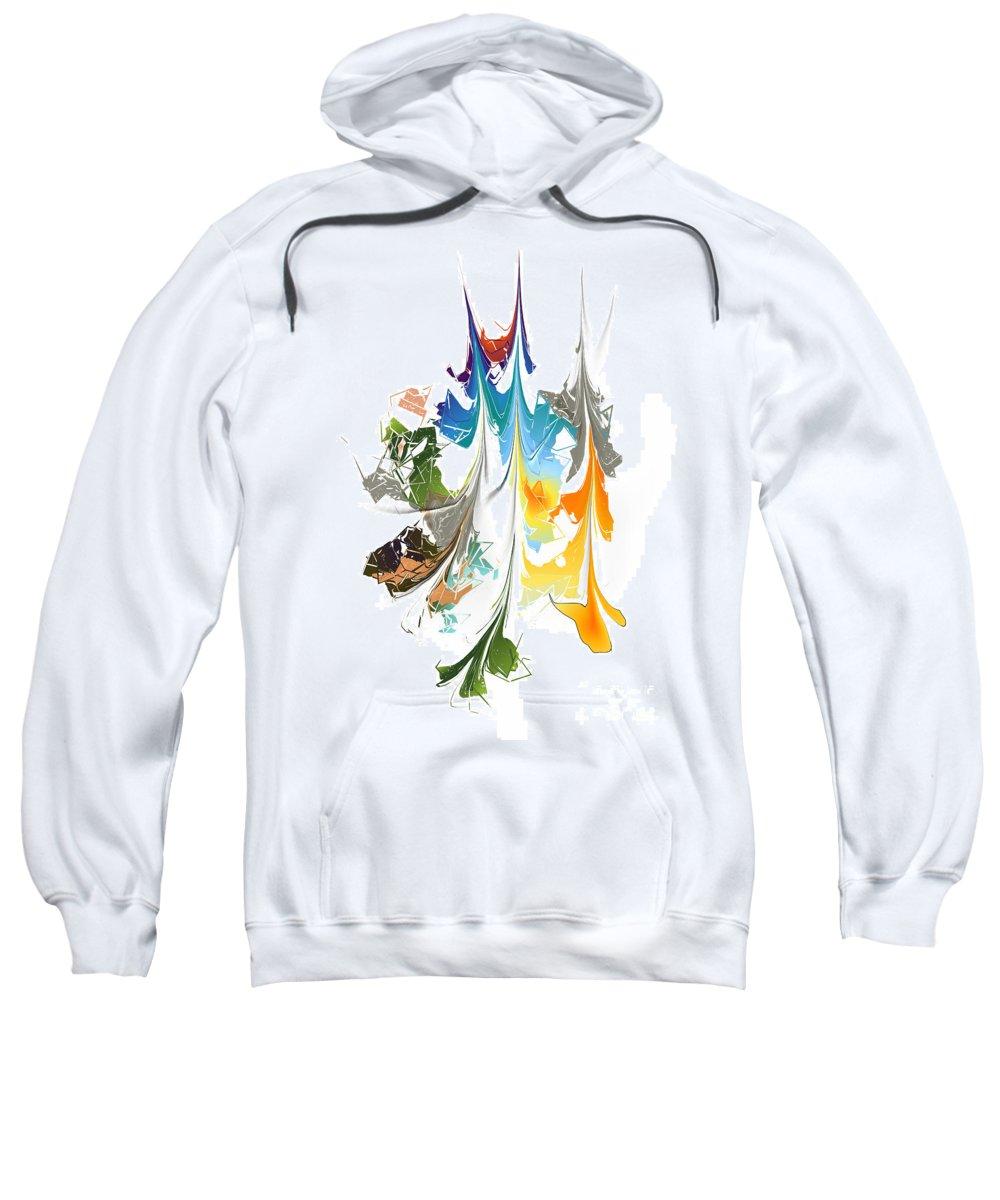 Sweatshirt featuring the digital art No. 1014 by John Grieder