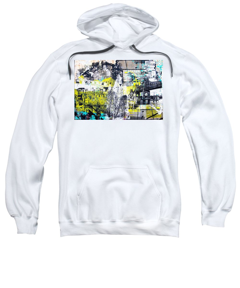 Graffiti Sweatshirt featuring the mixed media No Time Like This Time by 624713art