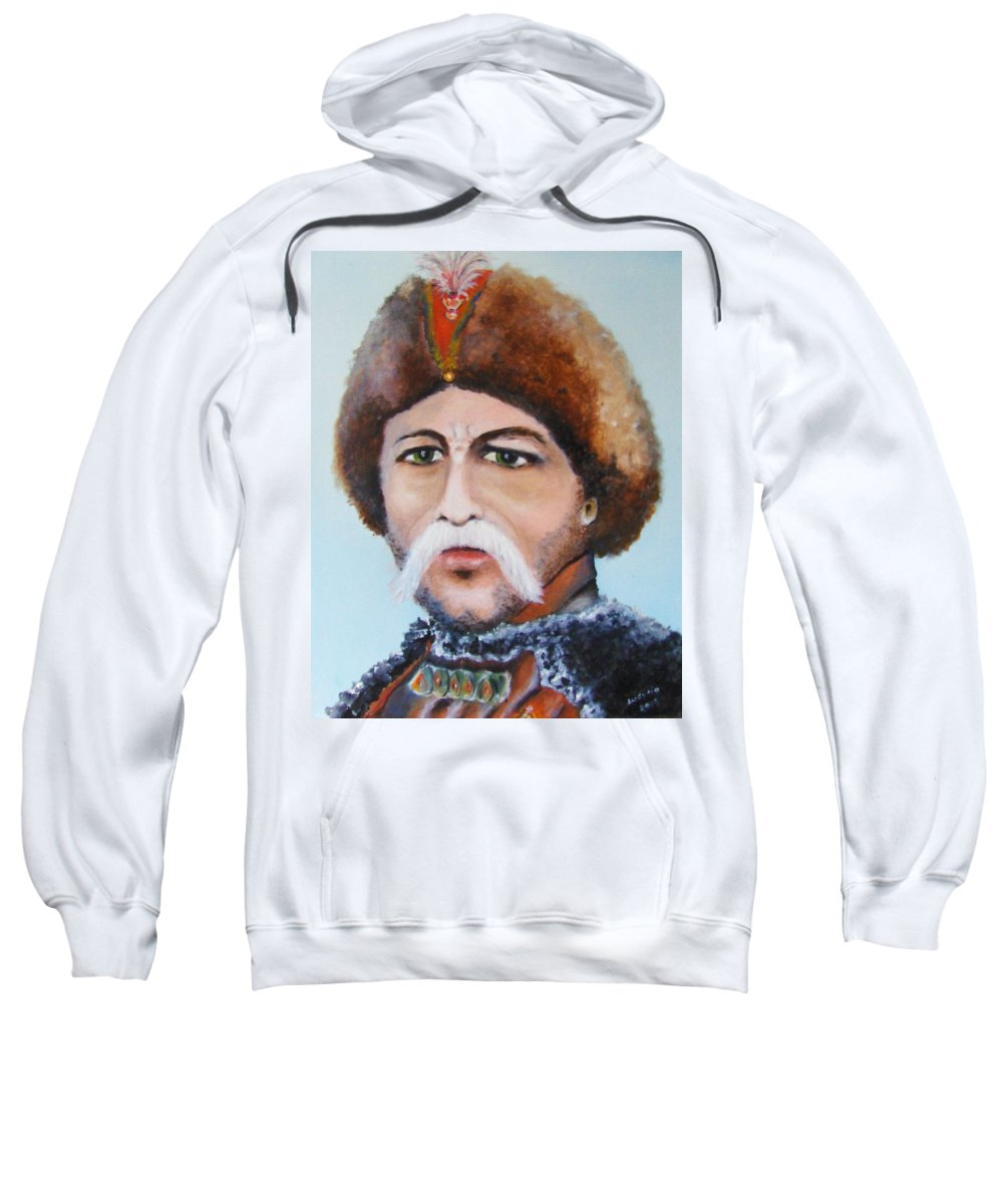 Art Sweatshirt featuring the painting Nobleman by Ryszard Ludynia
