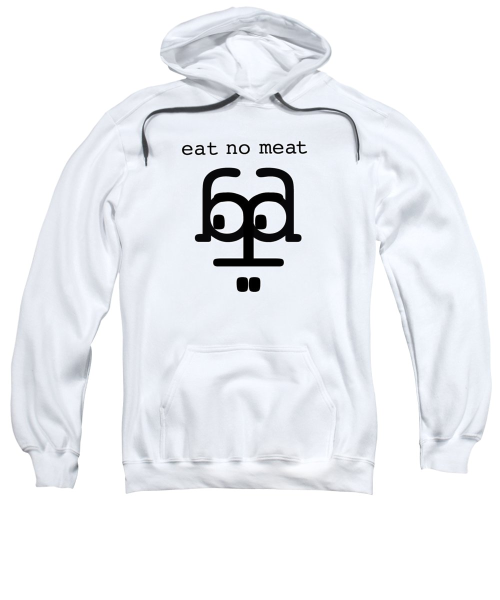 Vegetarian Sweatshirt featuring the digital art Nothing With A Face by Charles Stuart