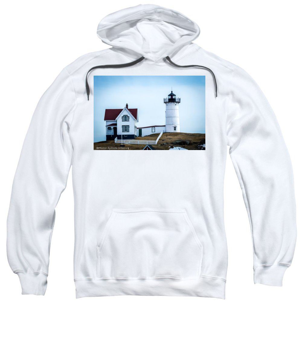 Landmarks Sweatshirt featuring the photograph Nubble Light House by Nate Wilson