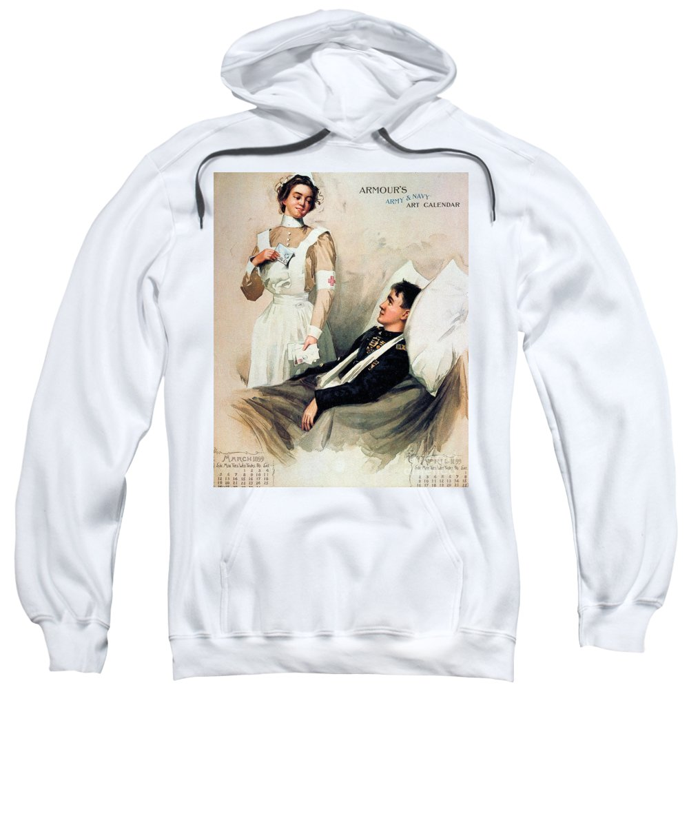 1899 Sweatshirt featuring the photograph Nurse: Calendar, 1899 by Granger