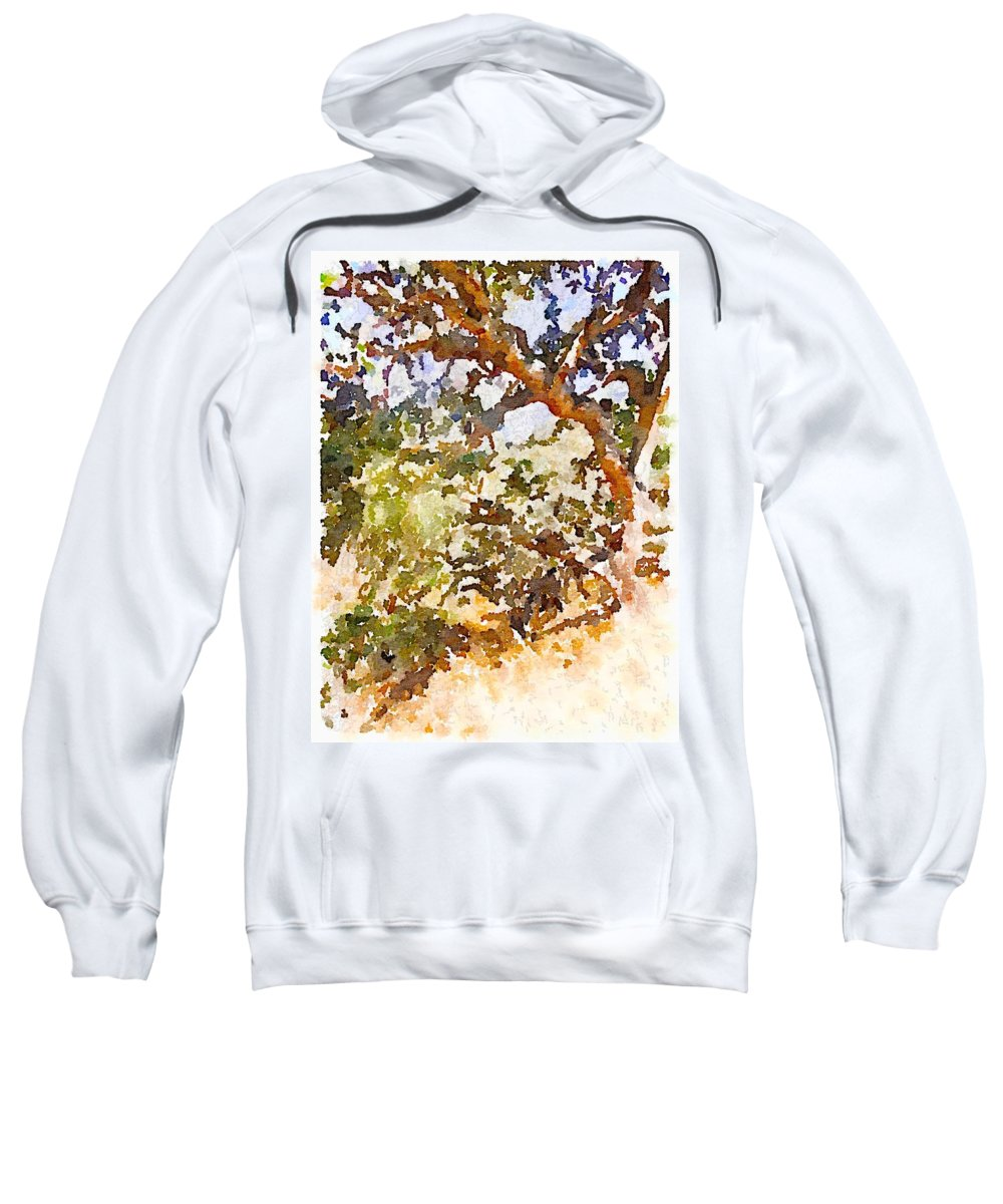 Waterlogue Sweatshirt featuring the digital art Oak by Shannon Grissom