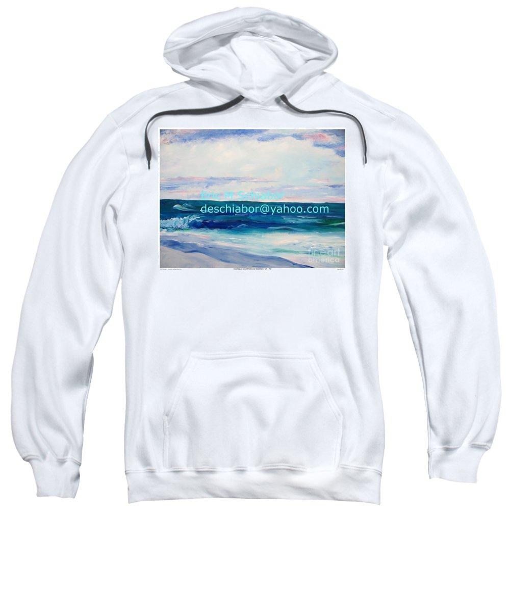 Floral Sweatshirt featuring the painting Ocean Assateague Virginia by Eric Schiabor