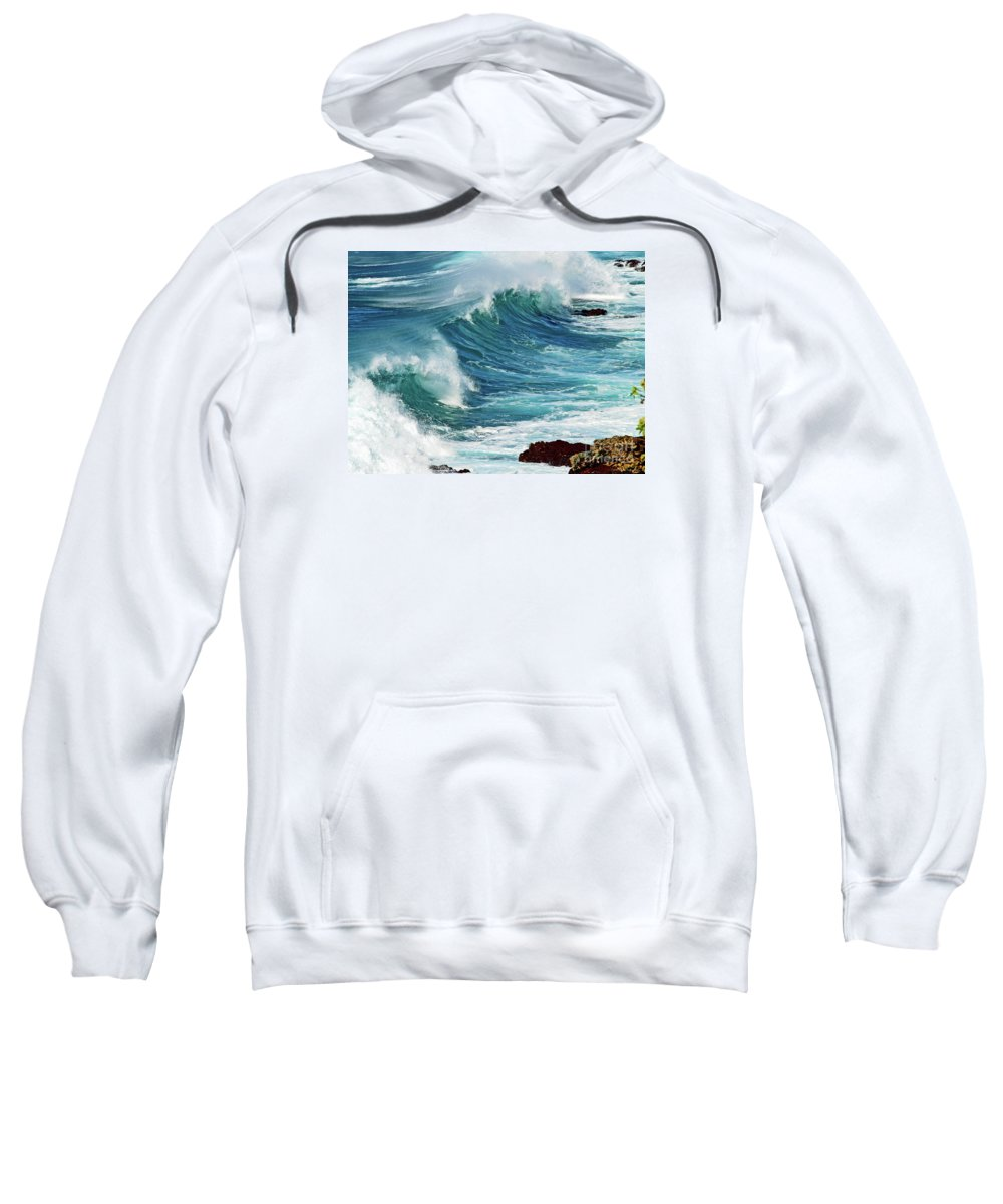 Ocean Photography Sweatshirt featuring the photograph Ocean Majesty by Patricia Griffin Brett