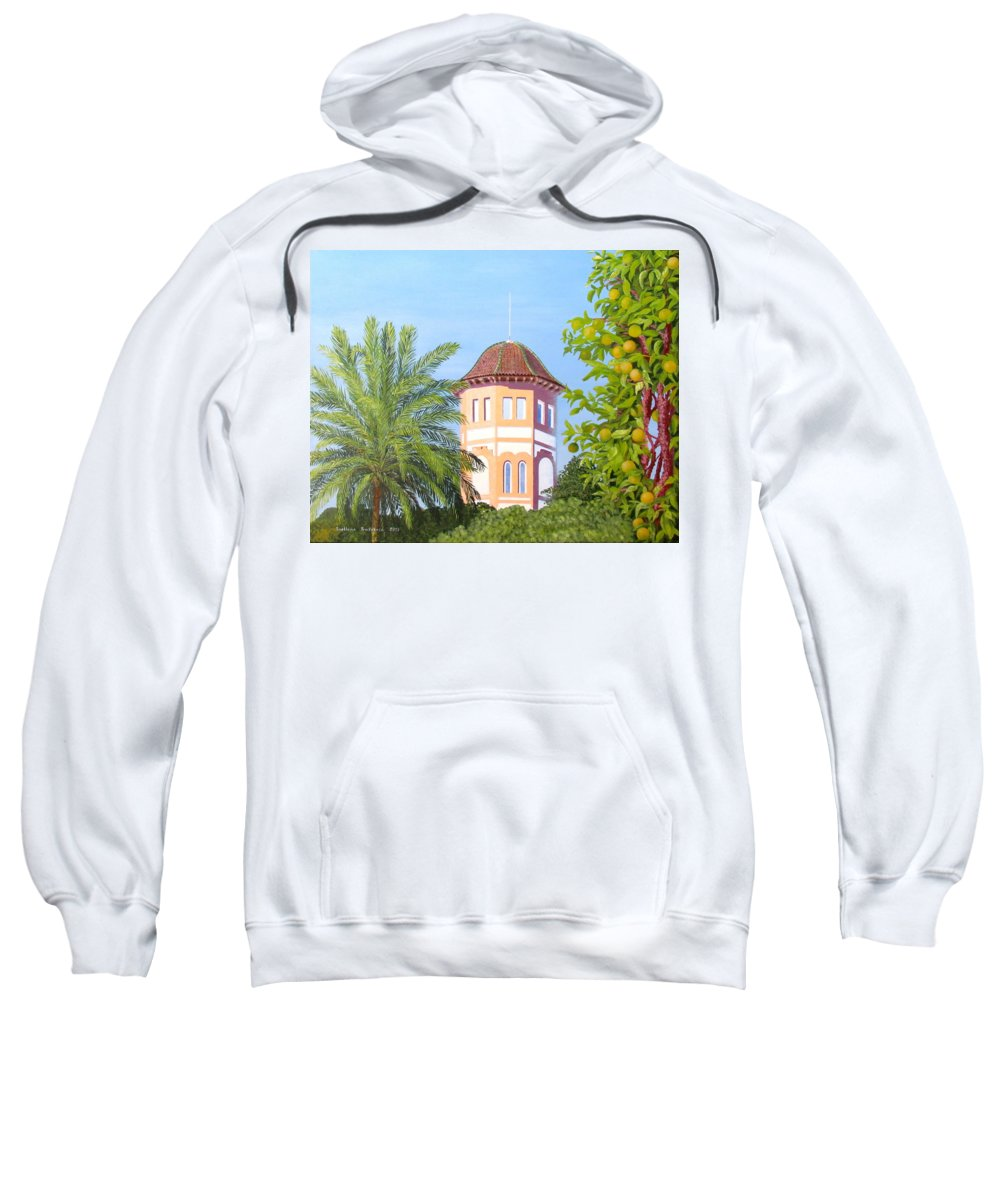 Landscape Sweatshirt featuring the painting October In Seville by Svetlana Troitskaia