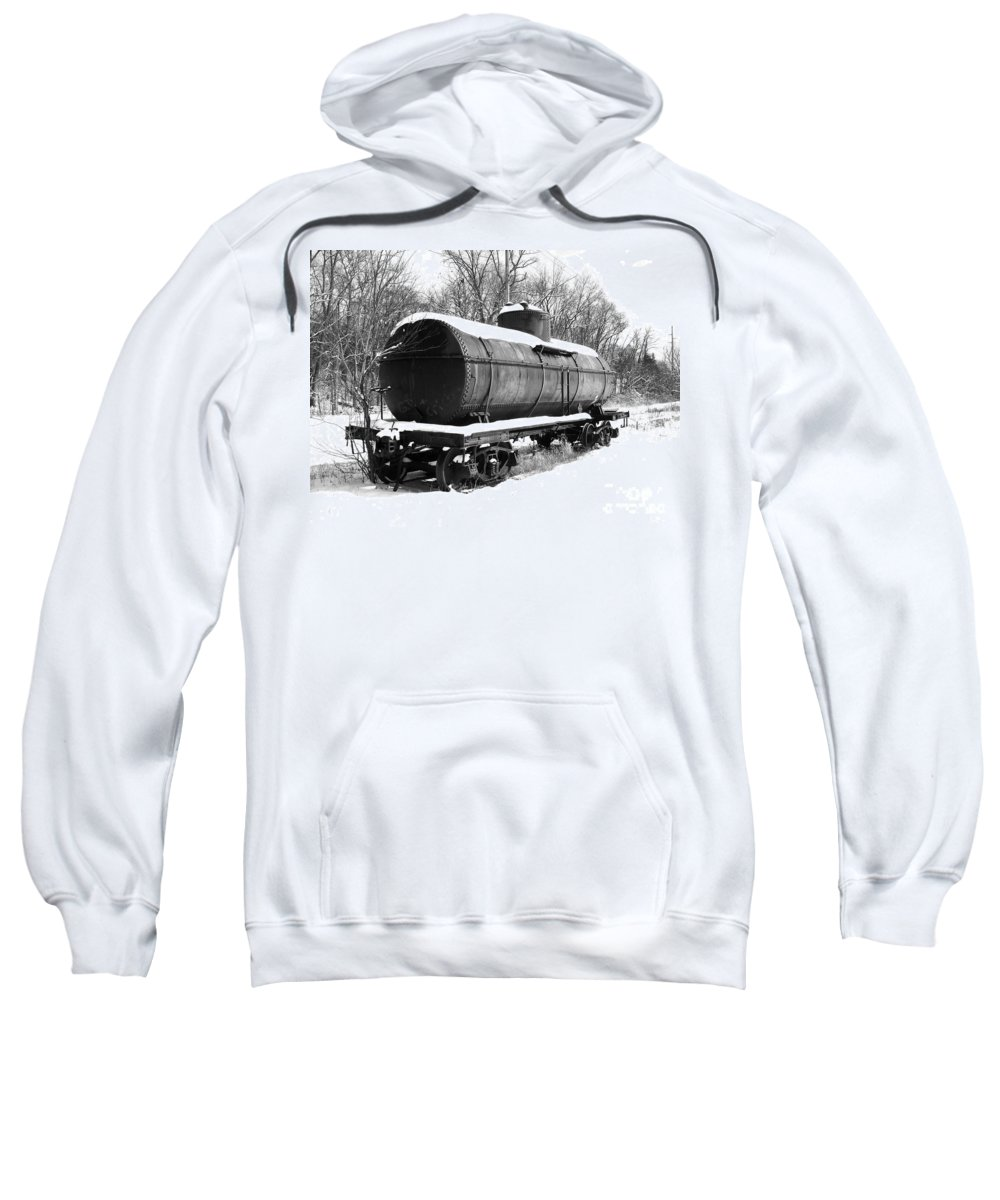 Train Sweatshirt featuring the photograph Off The Beaten Track by Sara Raber