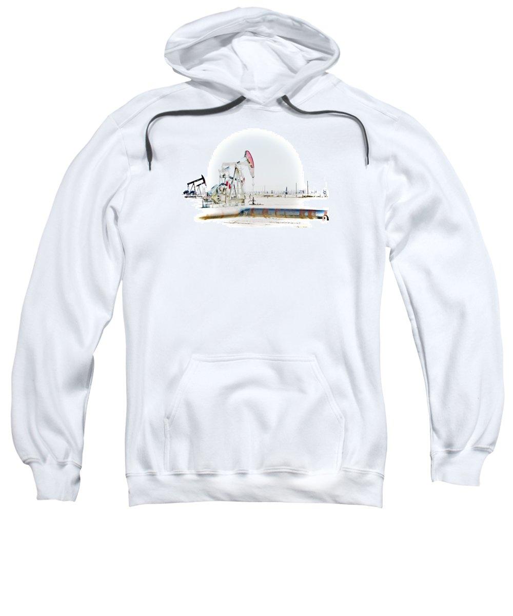 Oil Sweatshirt featuring the photograph Oil Field by Joel Loftus