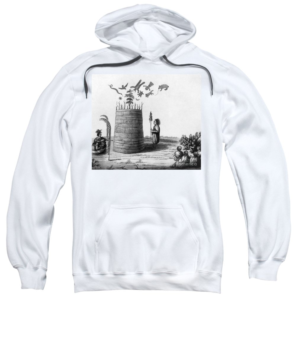 1855 Sweatshirt featuring the photograph Ojibwa Medicine Man - To License For Professional Use Visit Granger.com by Granger