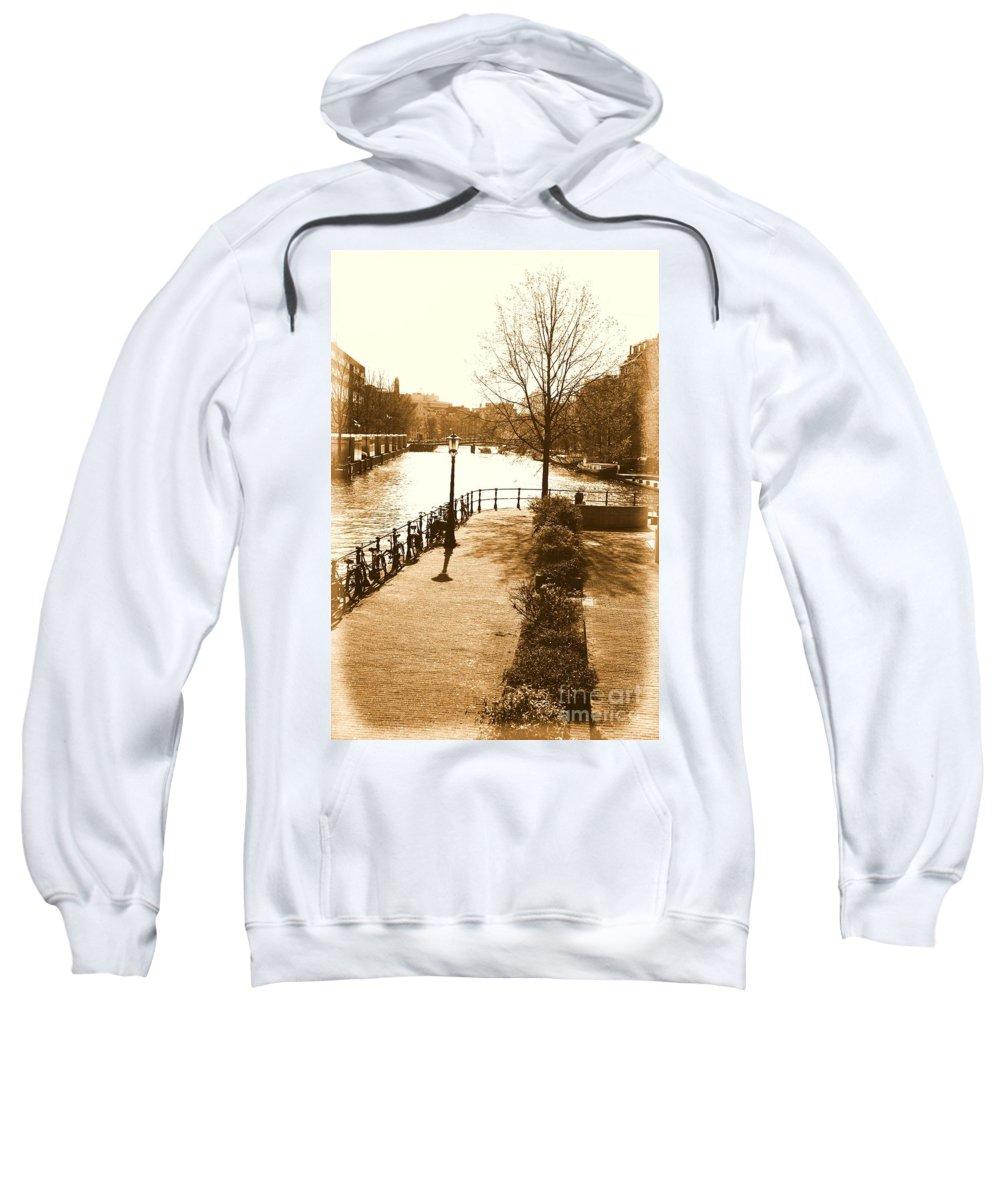 Amsterdam Sweatshirt featuring the photograph Old Amsterdam by Brian Raggatt