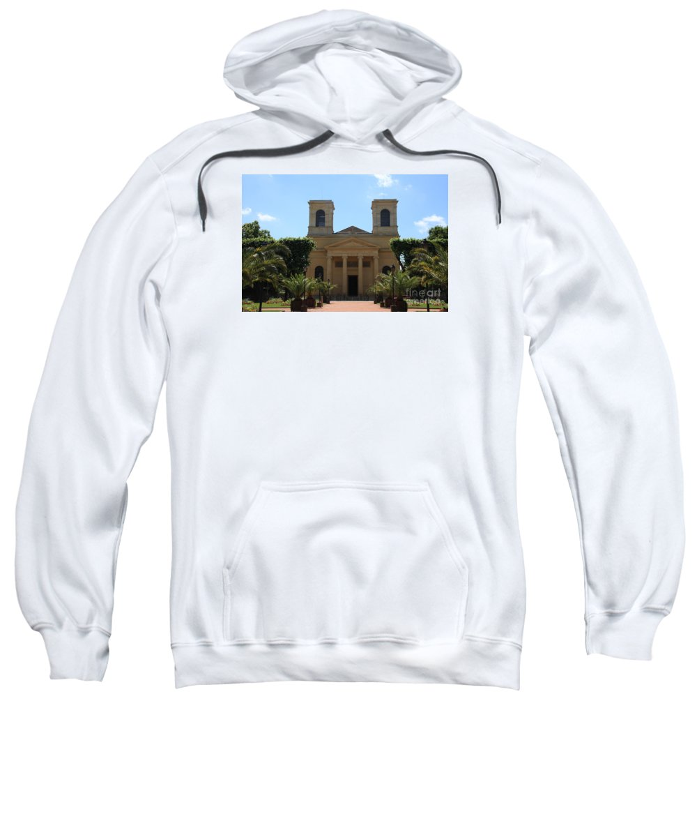 Church Sweatshirt featuring the photograph Old Church - Macon - Burgundy by Christiane Schulze Art And Photography