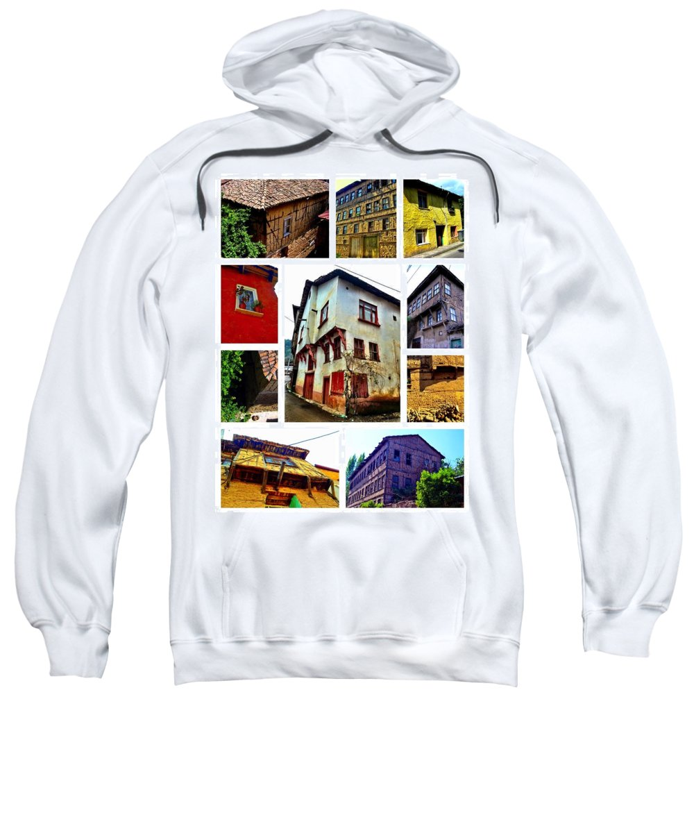 Old House Sweatshirt featuring the photograph Old Turkish Houses by Zafer Gurel