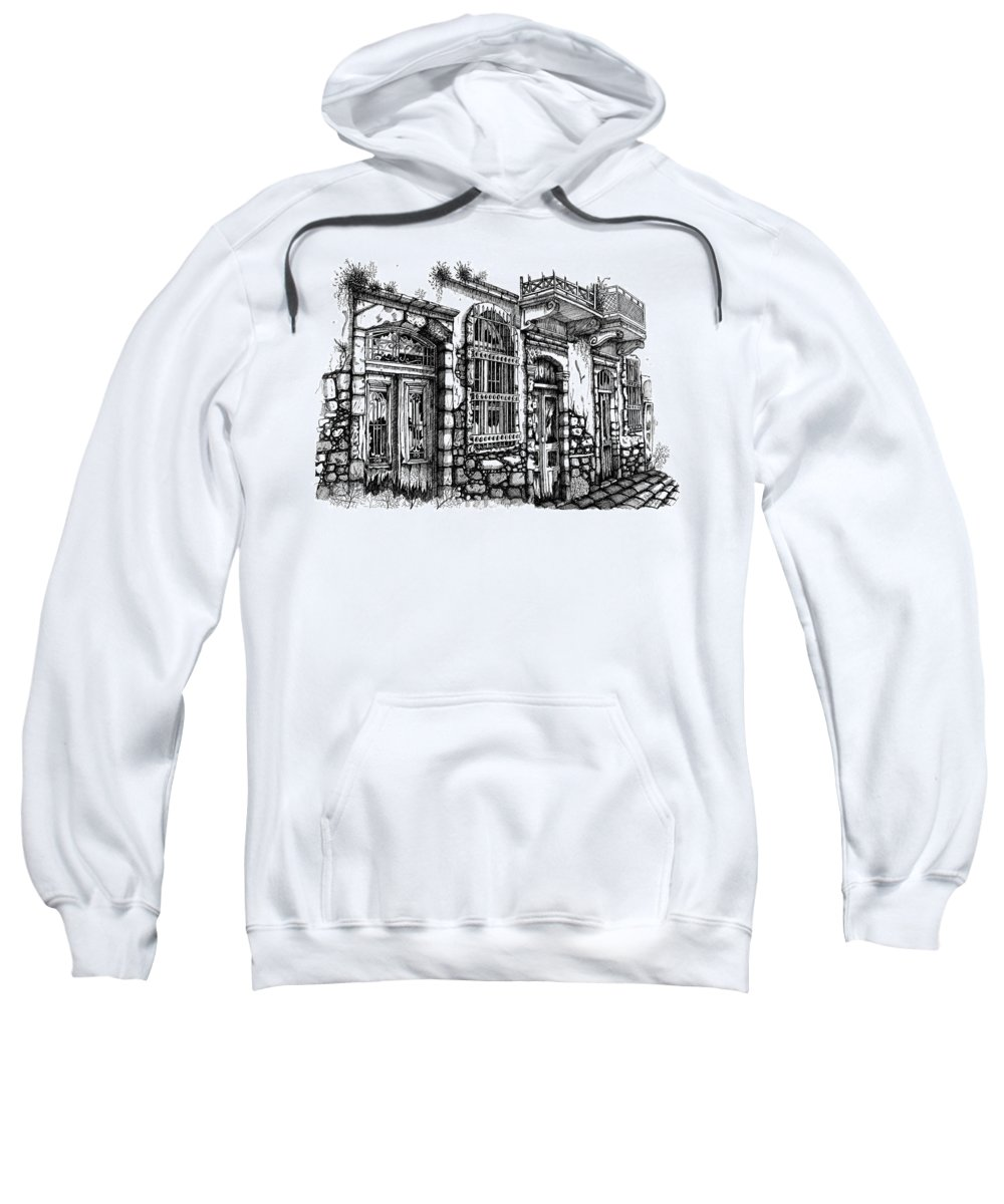 Sweatshirt featuring the drawing old Venetian doors by Franko Brkac
