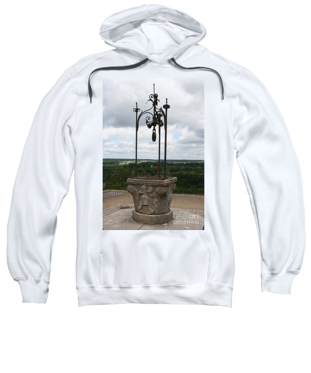 Well Sweatshirt featuring the photograph Old Well Chateau Chaumont by Christiane Schulze Art And Photography