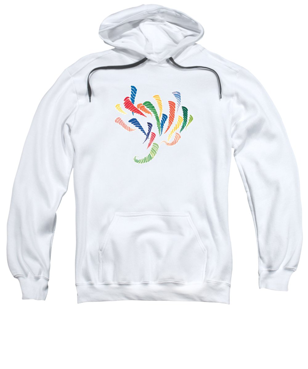 Olympic Games Sweatshirt featuring the painting Olympic Fire by Bjorn Sjogren
