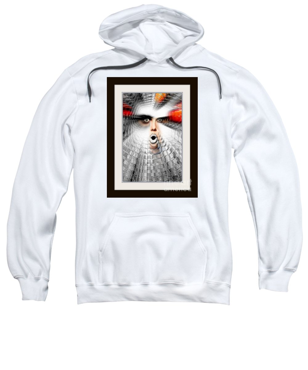 Art Sweatshirt featuring the painting OMG by Rafael Salazar