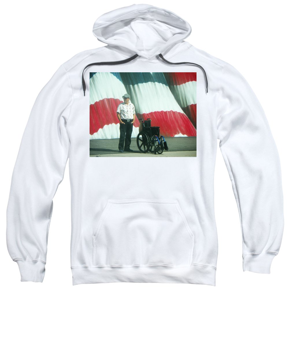 Abstract Sweatshirt featuring the photograph On American Streets by Lenore Senior
