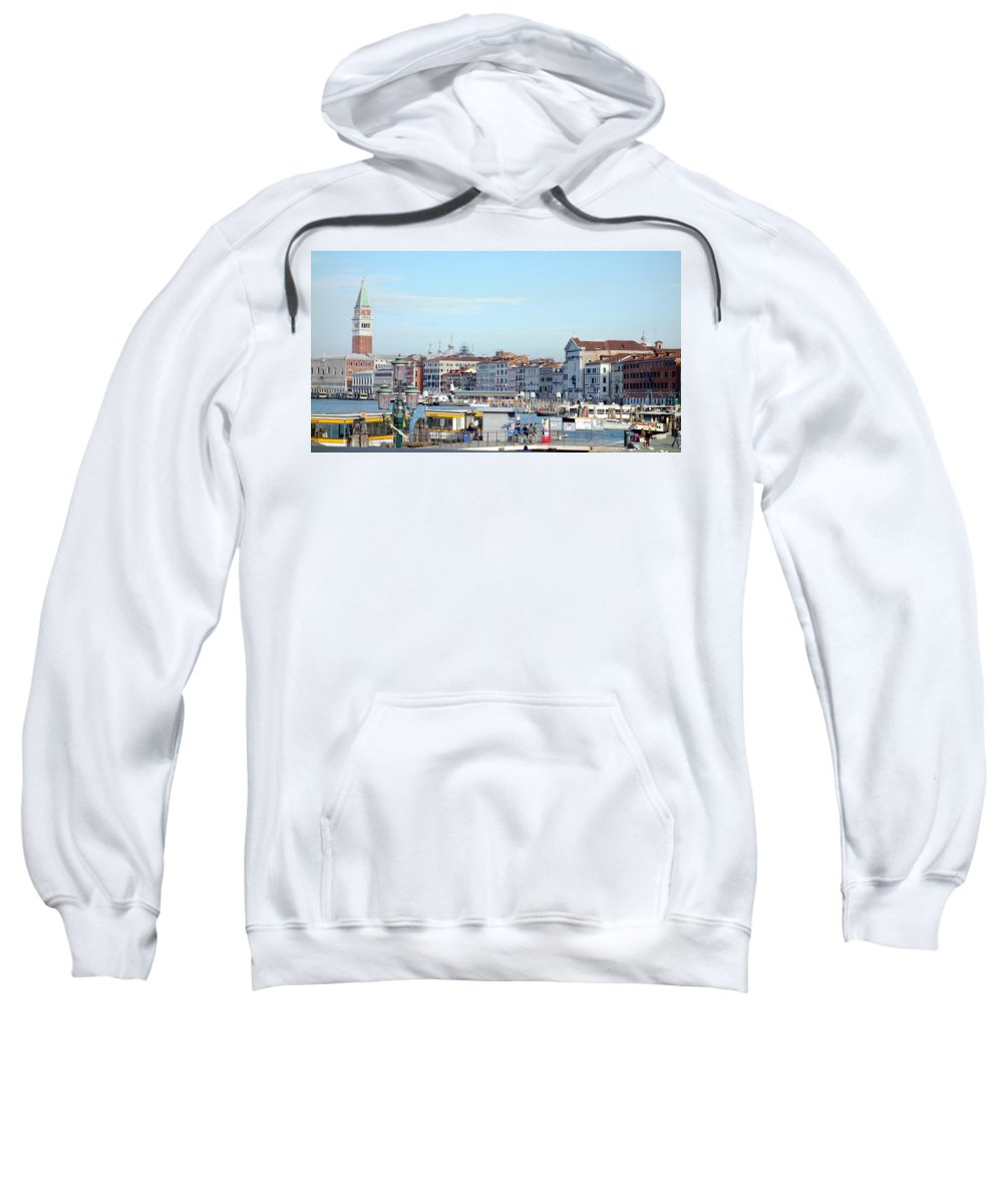 Panorama Sweatshirt featuring the photograph On The Lagoon by Valentino Visentini
