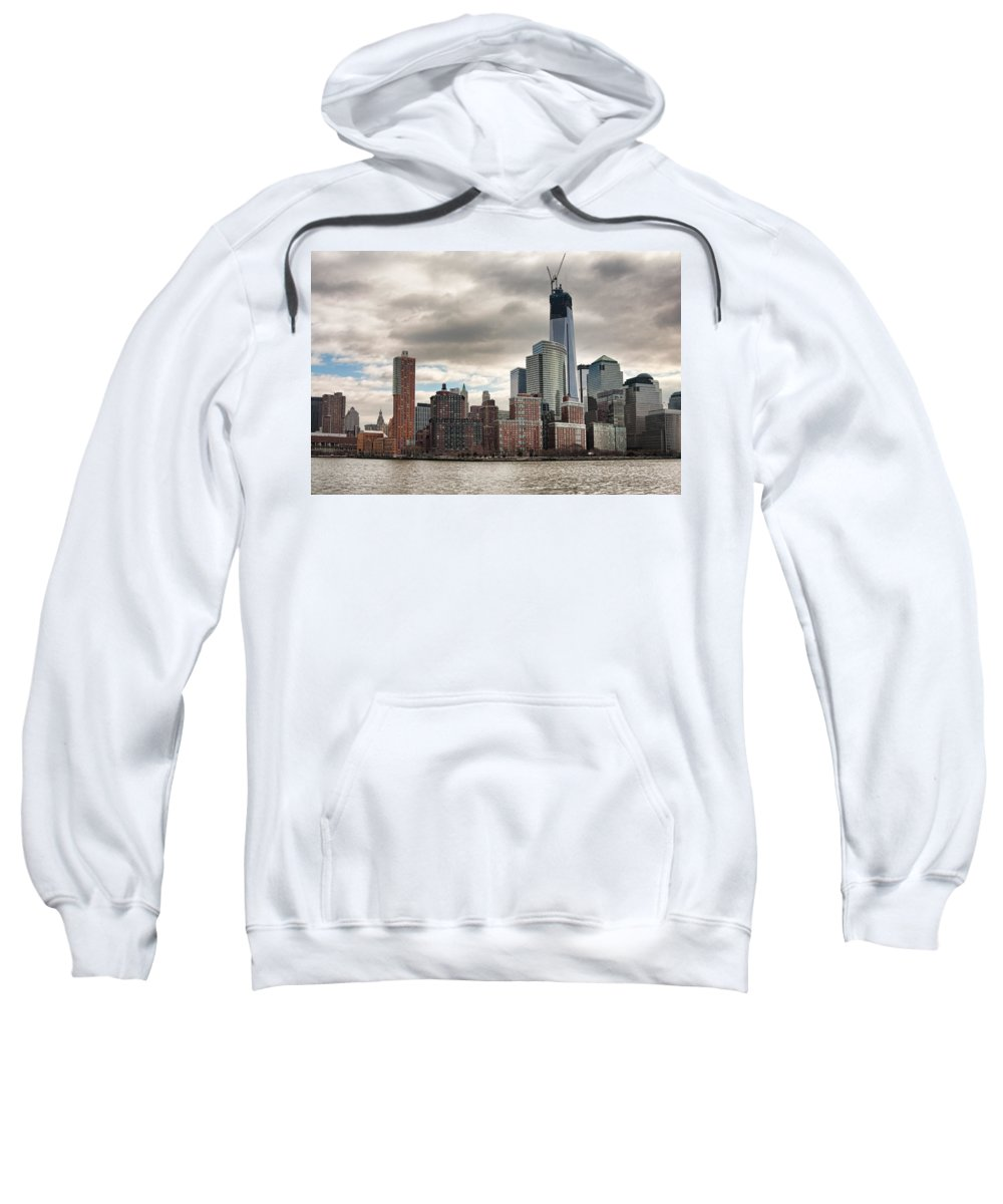 New York City Sweatshirt featuring the photograph One World Trade Center by Lindley Johnson
