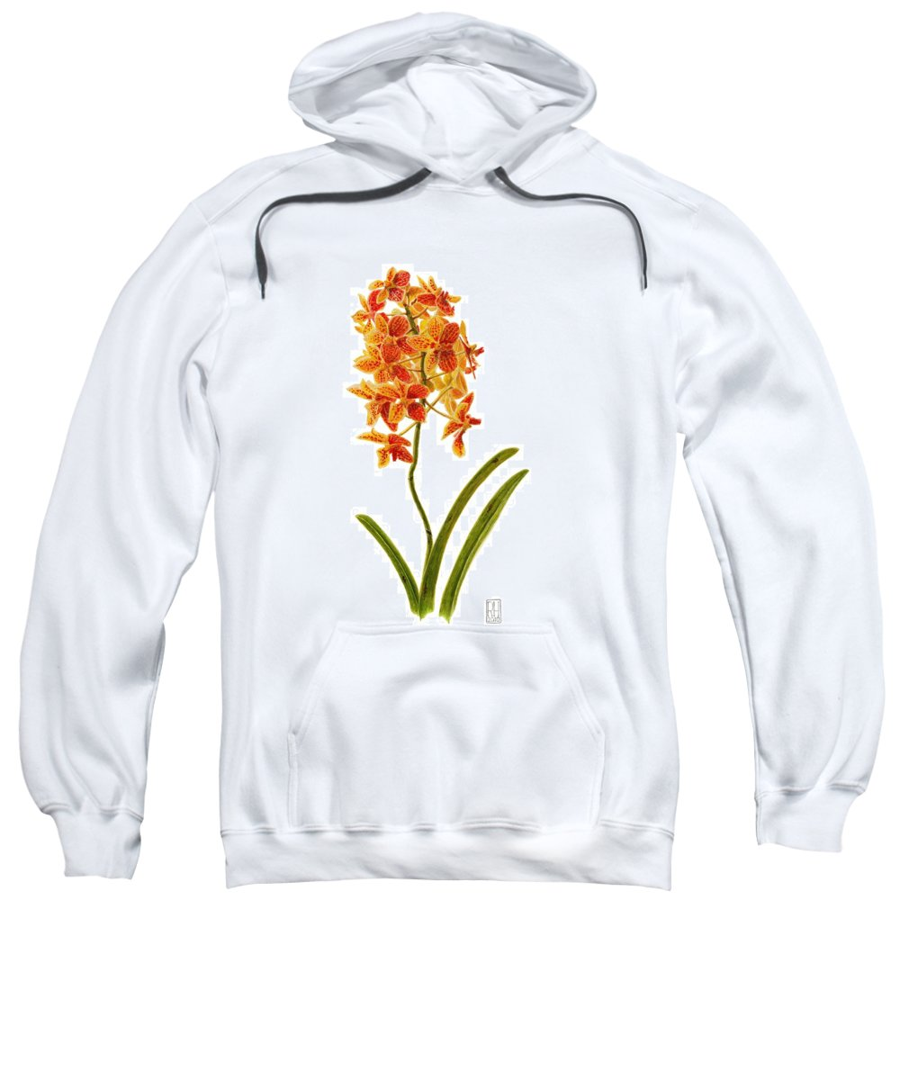 Orchid Sweatshirt featuring the painting Orchid 2 by Richard Harpum