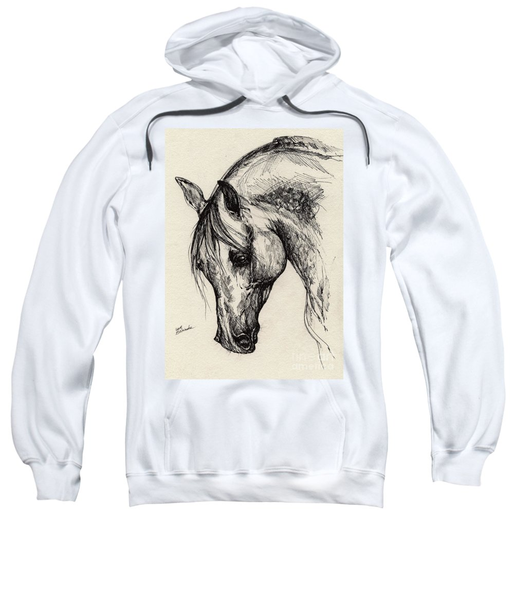Polis Sweatshirt featuring the drawing Ostragon by Angel Ciesniarska