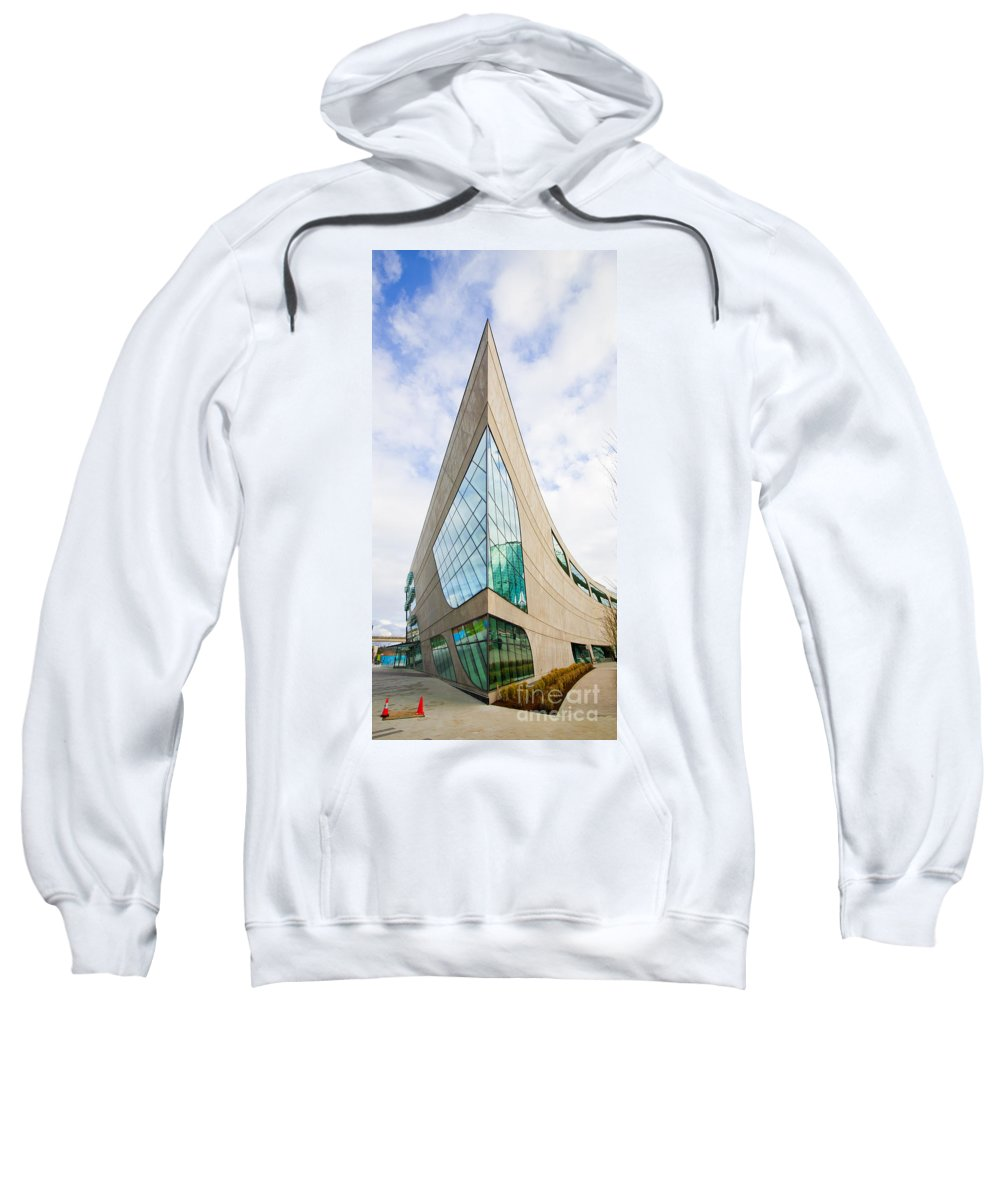 Surrey Regional Library Sweatshirt featuring the photograph Ouch by Chris Dutton